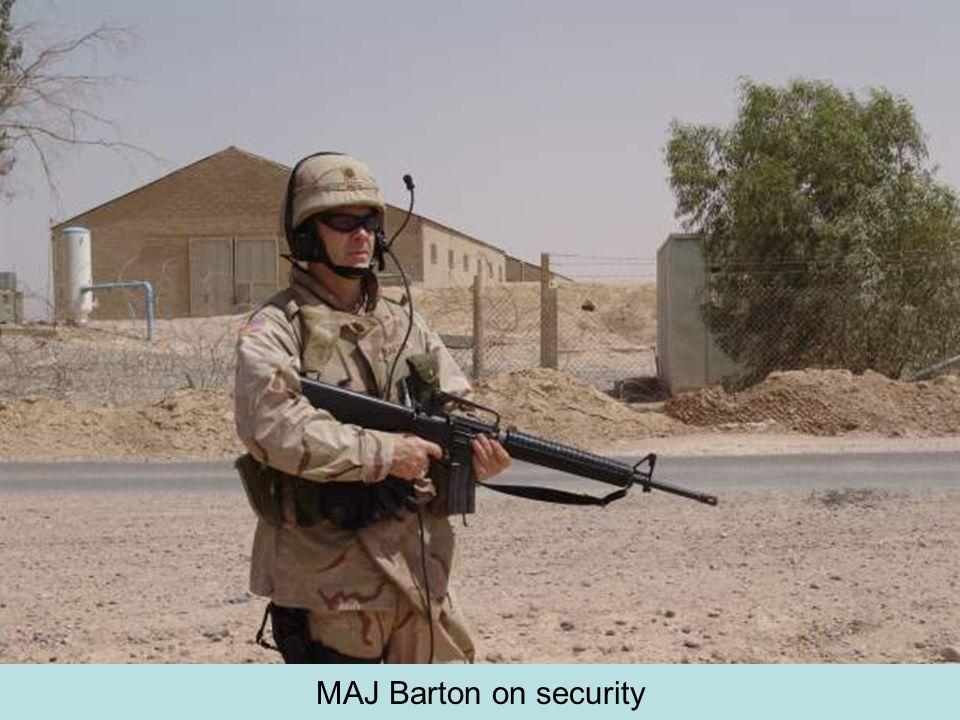 MAJ Barton on security
