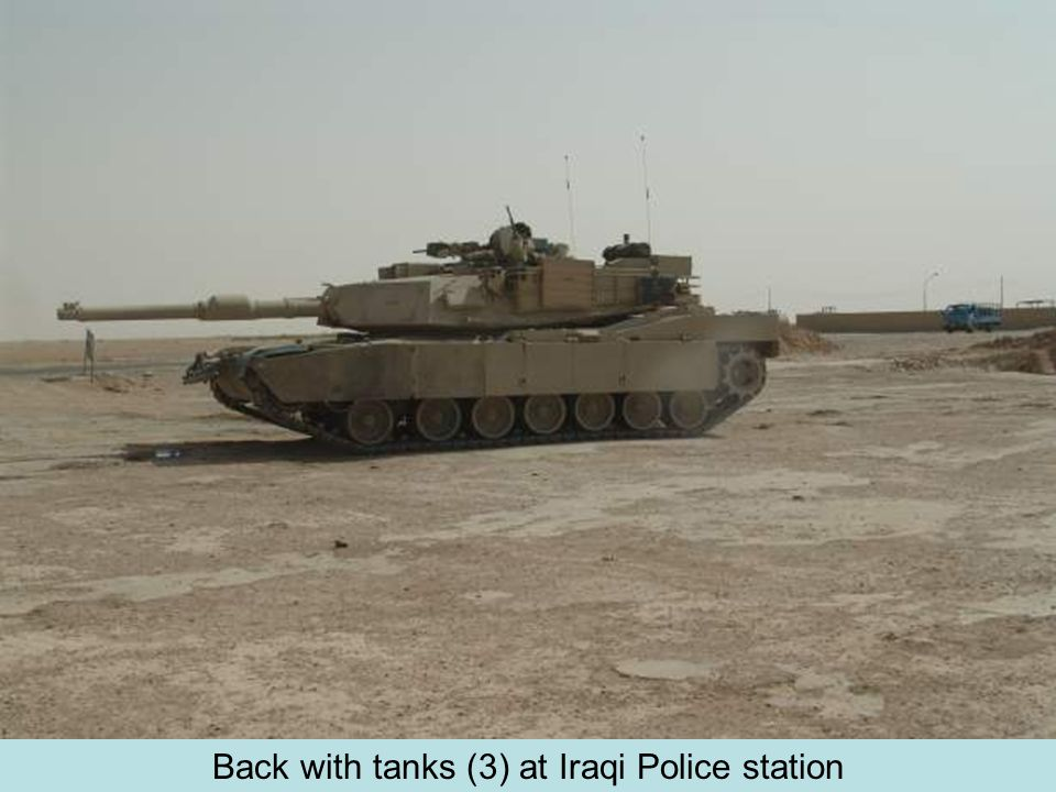 Back with tanks (3) at Iraqi Police station