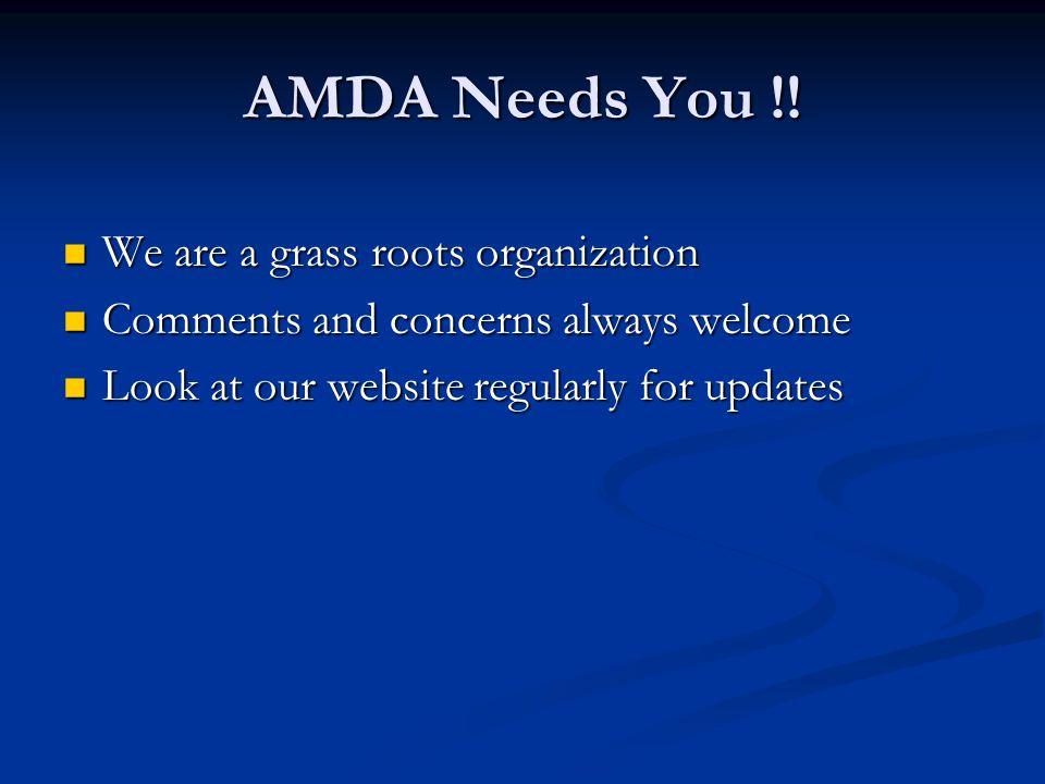 AMDA Needs You !.