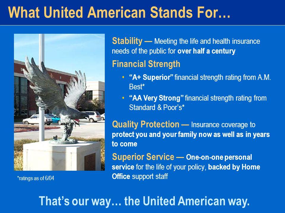 United American's GOOD SENSE PLAN Finally, an Affordable Health Insurance Policy that m akes good sense!