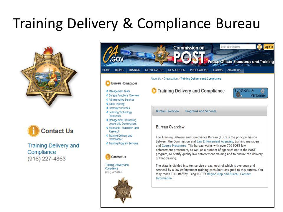 Training Delivery & Compliance Bureau