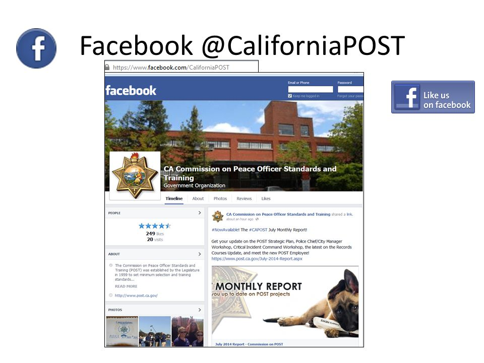 Facebook @CaliforniaPOST