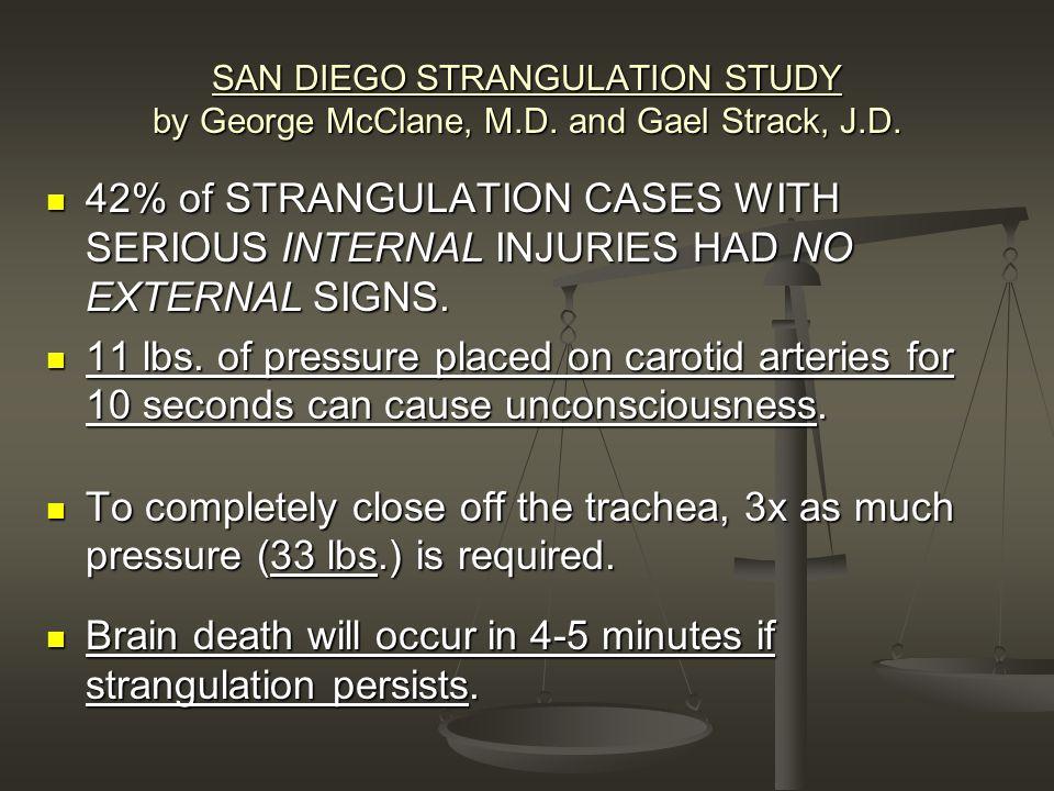 SAN DIEGO STRANGULATION STUDY by George McClane, M.D.