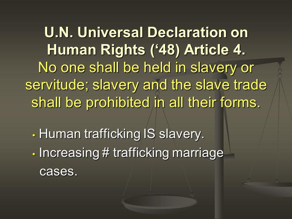 Human trafficking IS slavery. Human trafficking IS slavery.