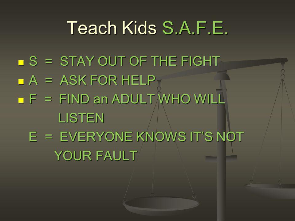 Teach Kids S.A.F.E.