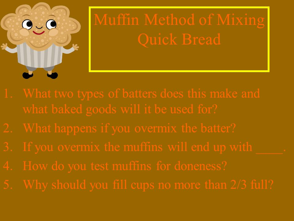 1.What two types of batters does this make and what baked goods will it be used for.