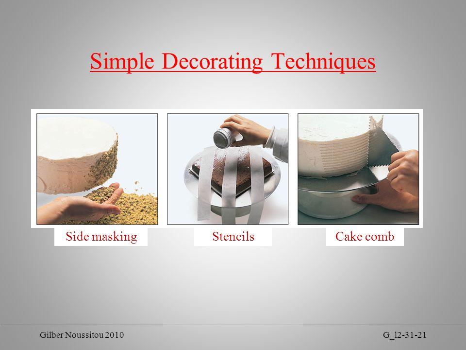 Gilber Noussitou 2010G_l2-31-21 Simple Decorating Techniques Side maskingStencilsCake comb