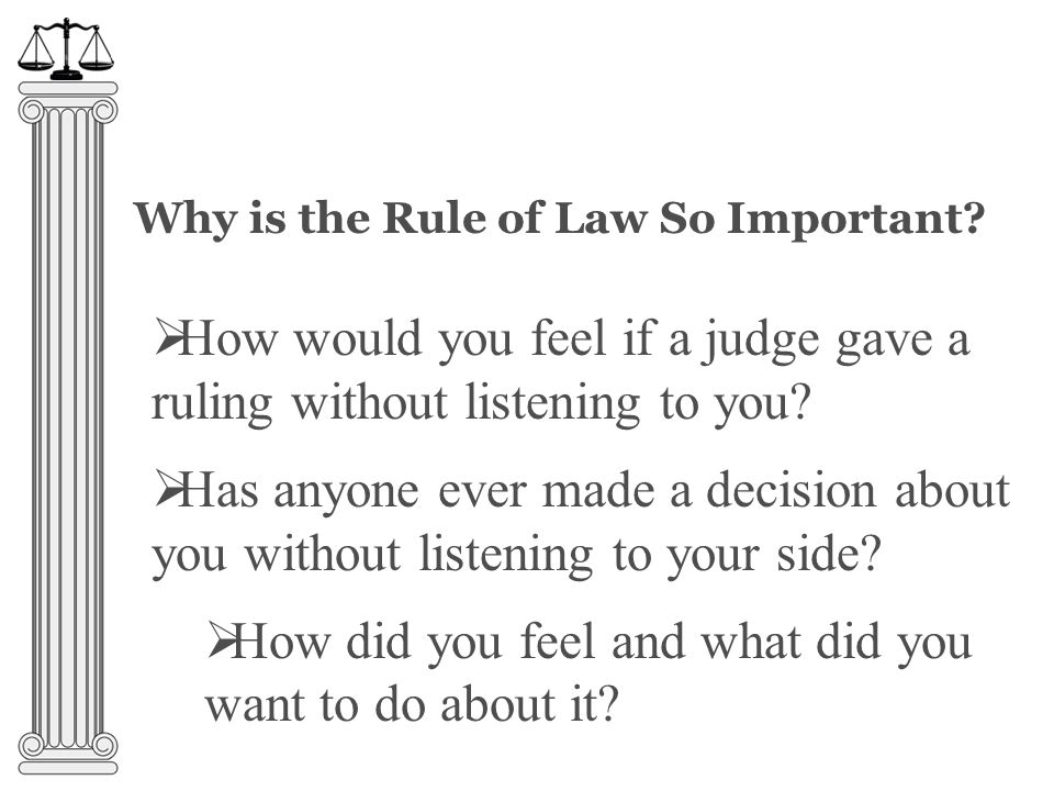 Why is the Rule of Law So Important