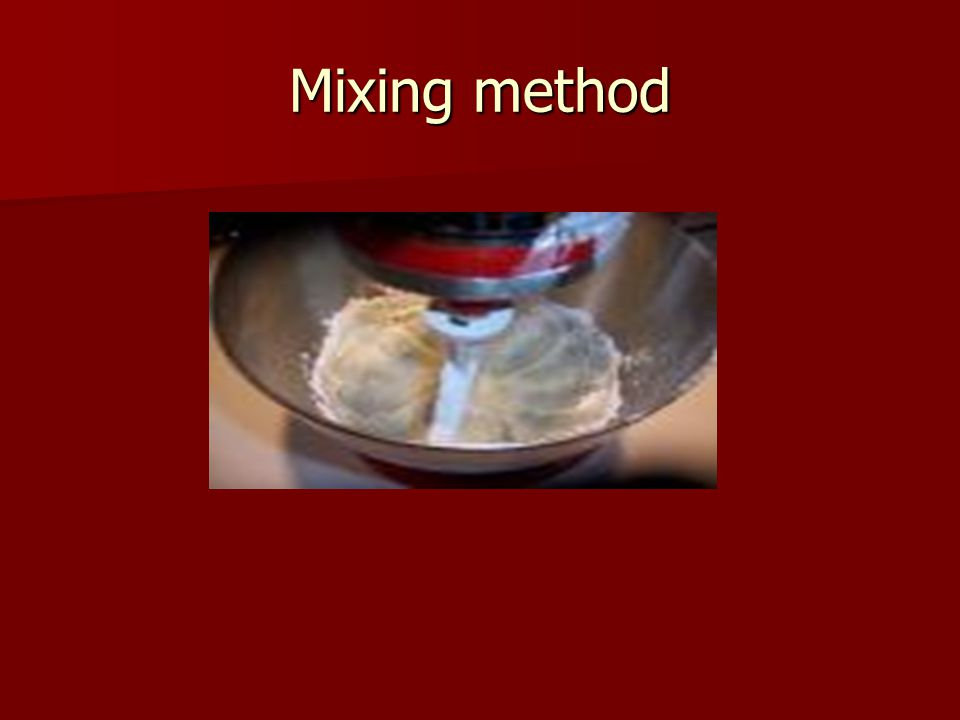 Mixing method