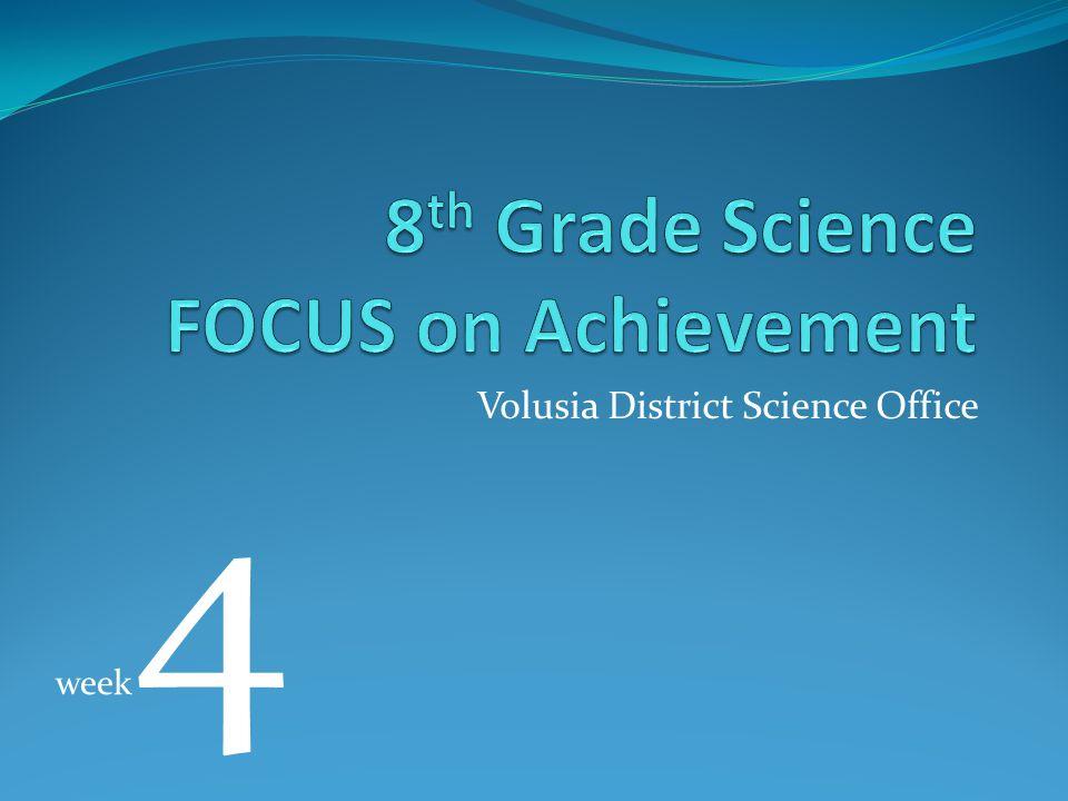 Volusia District Science Office week 4