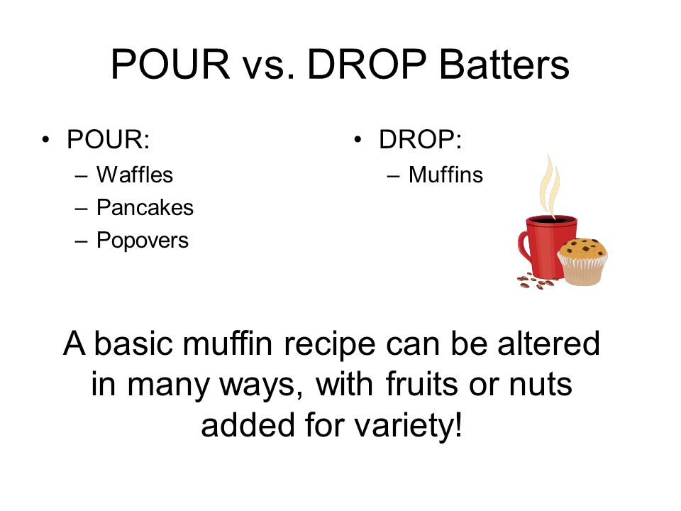 Why do we use the MUFFIN method.The challenge is to avoid OVERMIXING.