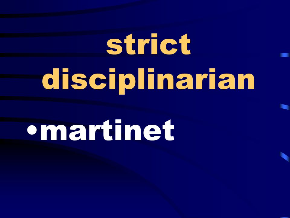 strict disciplinarian martinet
