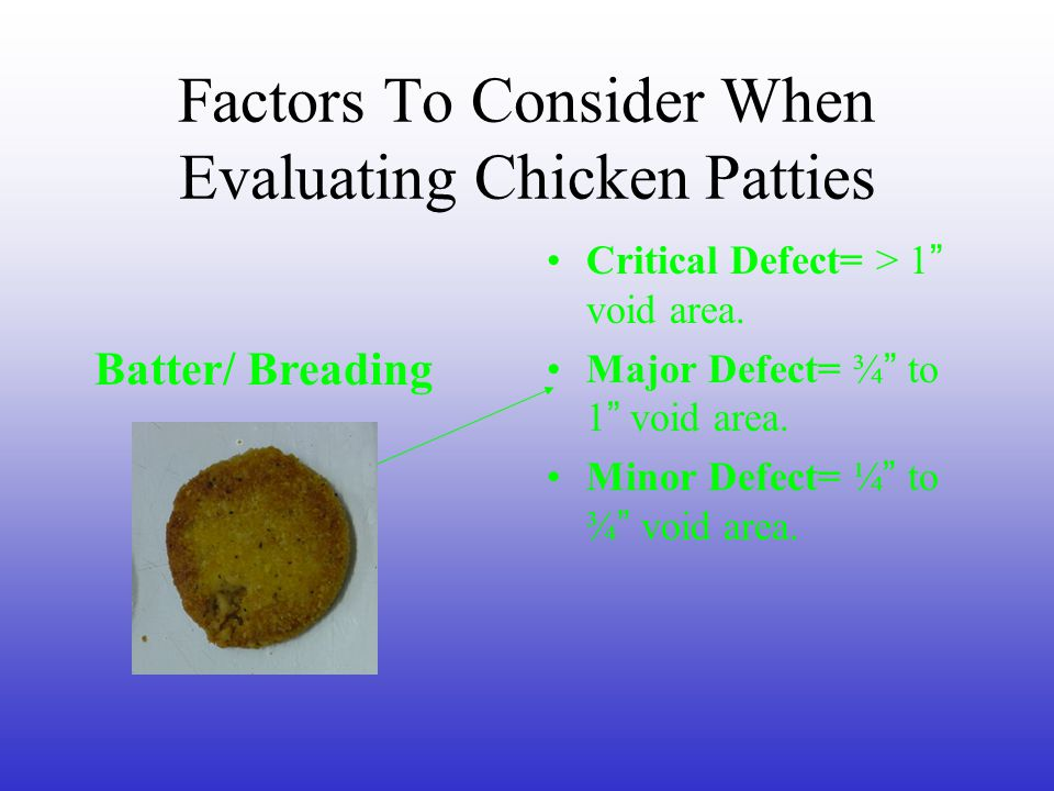 Evaluating Precooked, Breaded Chicken Patties Created By: Jerry Taylor Agriculture Education Teacher Madison County High School Ag.