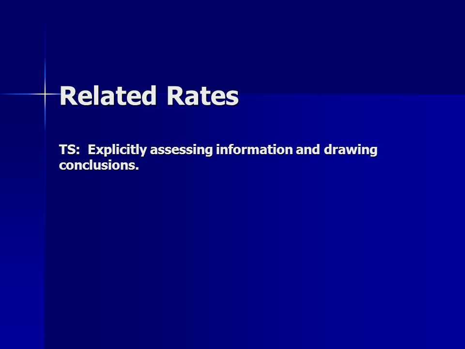 Related Rates TS: Explicitly assessing information and drawing conclusions.