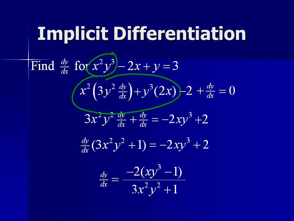 Implicit Differentiation