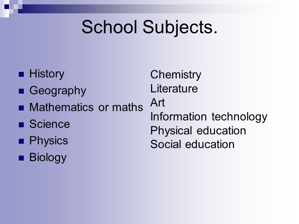 School Subjects.