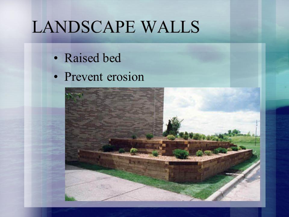 Raised bed Prevent erosion