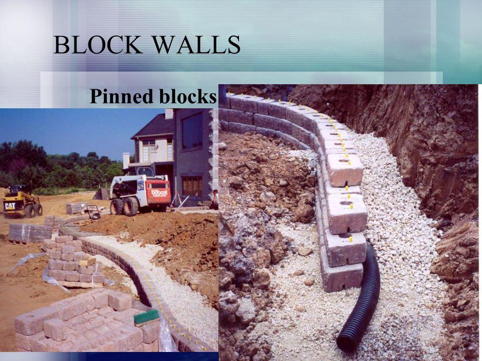 BLOCK WALLS Pinned blocks