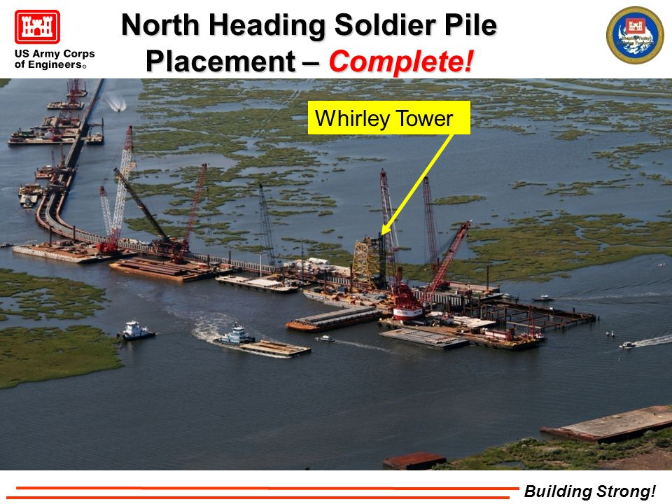 Building Strong! Whirley Tower North Heading Soldier Pile Placement – Complete!