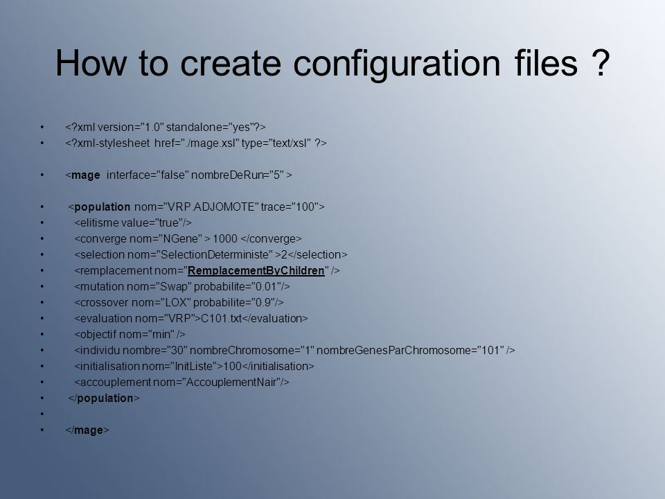 How to create configuration files 1000 2 C101.txt 100