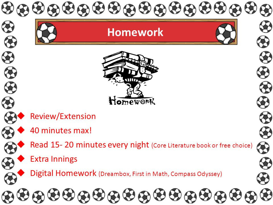 Homework  Review/Extension  40 minutes max.