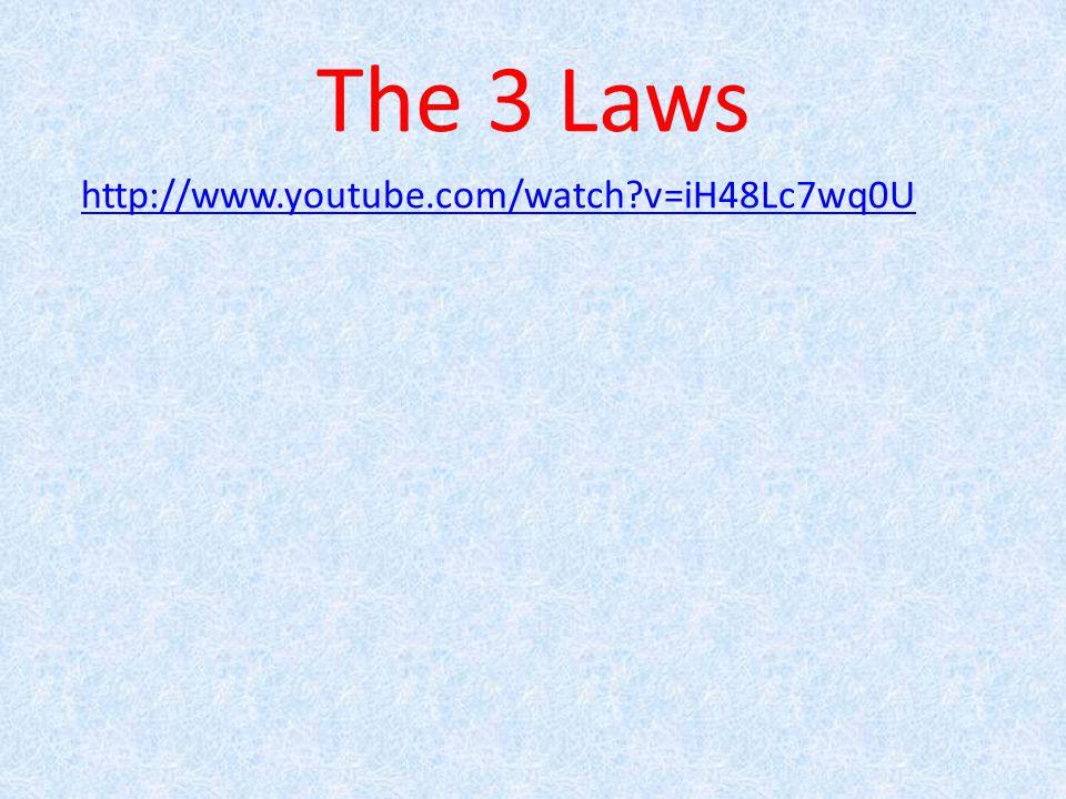 The 3 Laws http://www.youtube.com/watch?v=iH48Lc7wq0U