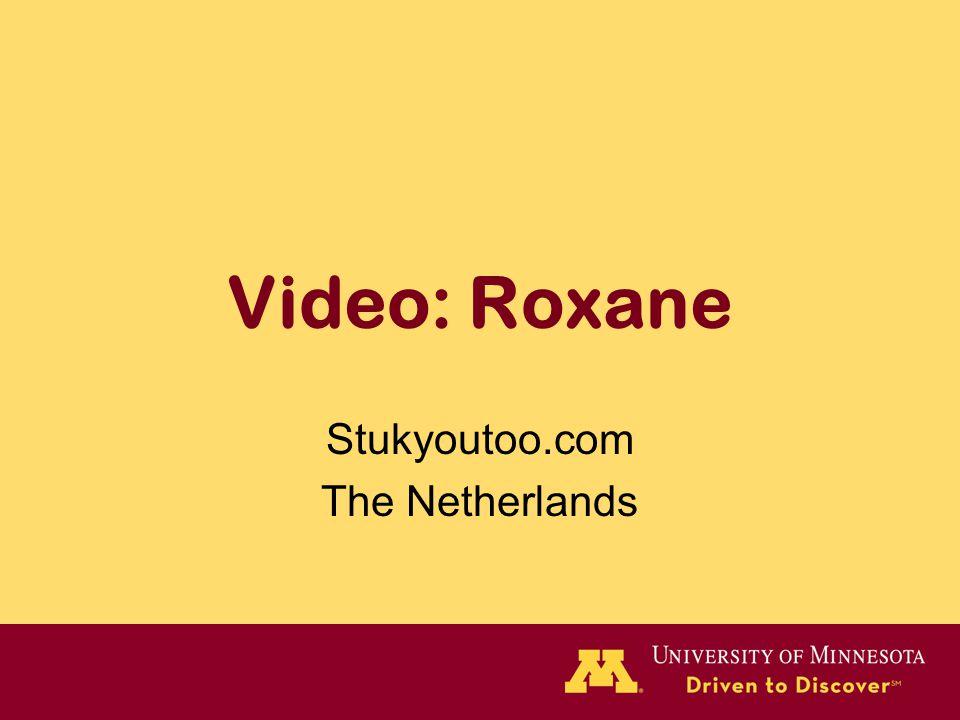 Video: Roxane Stukyoutoo.com The Netherlands