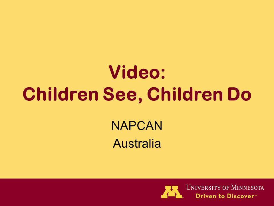 Video: Children See, Children Do NAPCAN Australia