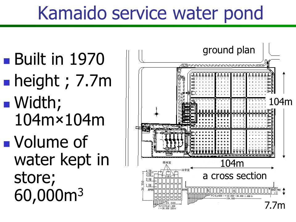 Kamaido service water pond In the upper part, there are a baseball ground and tennis courts.