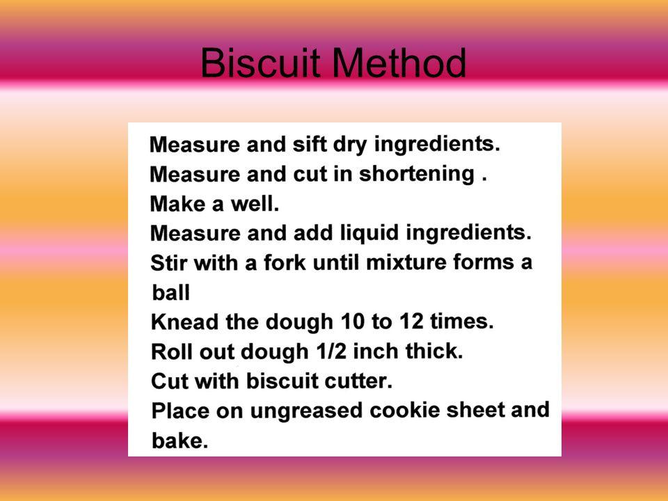 Biscuit Method