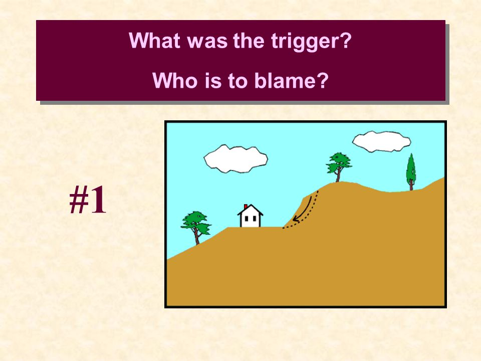 What was the trigger Who is to blame #1