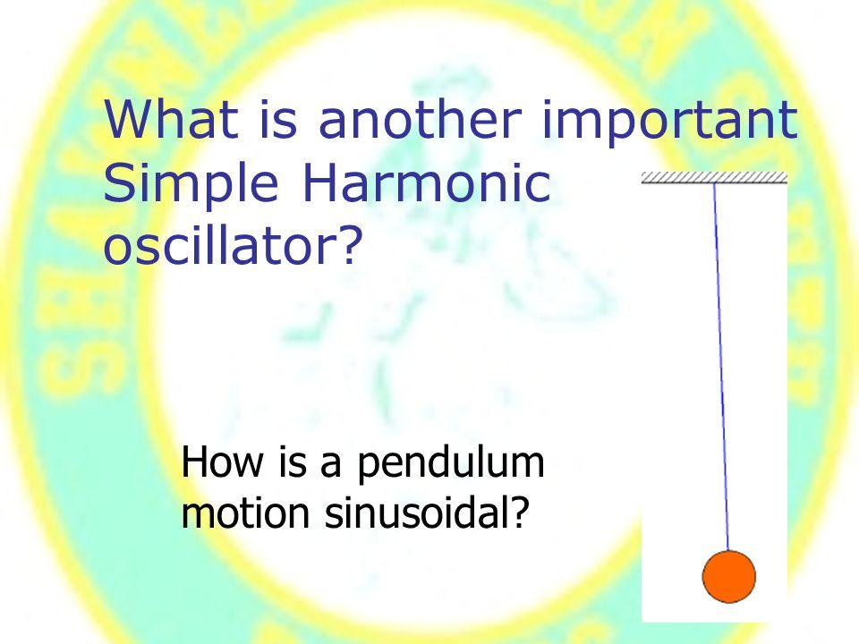 How is a pendulum motion sinusoidal?