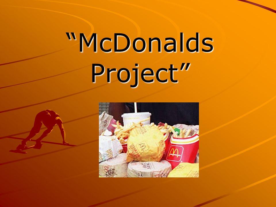"""McDonalds Project"""