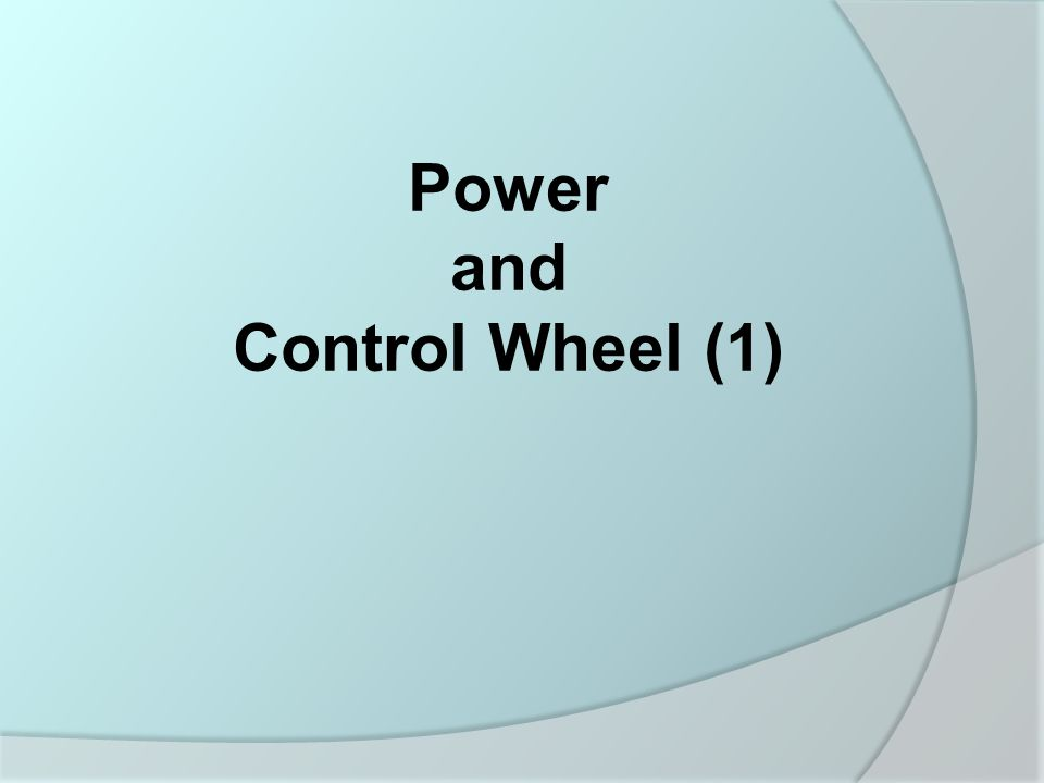 Power and Control Wheel (1)