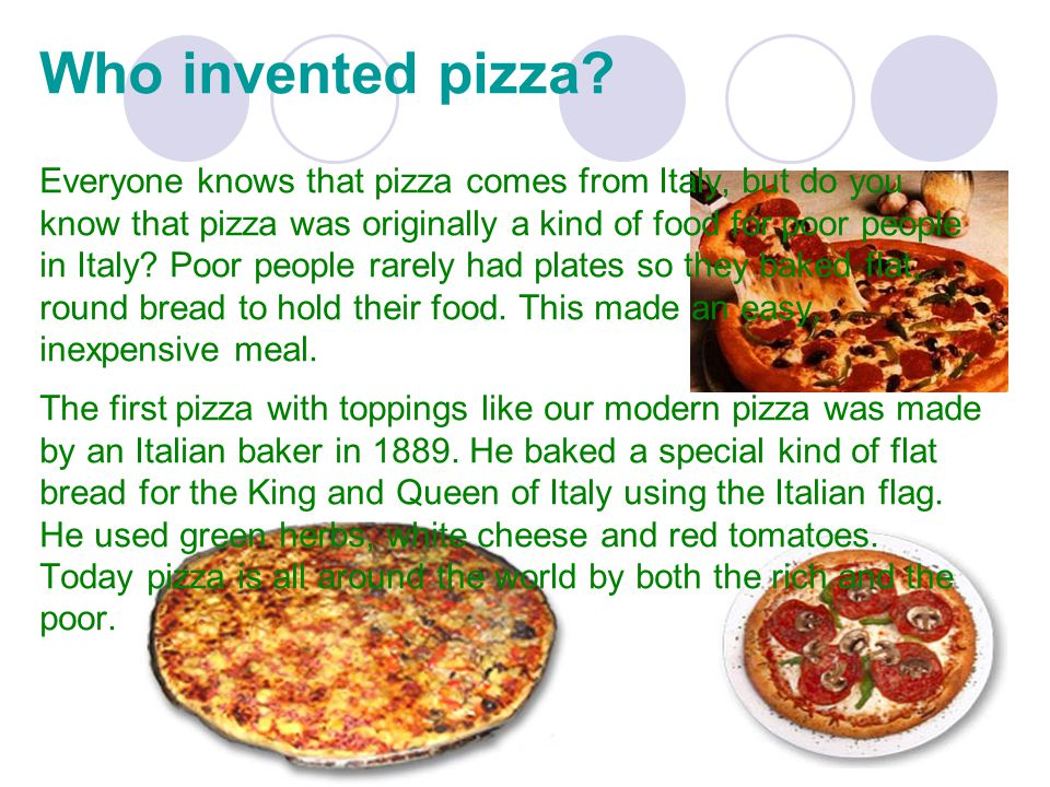 Who invented pizza.
