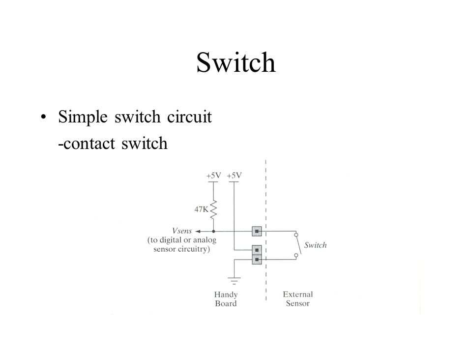 Switch Simple switch circuit -contact switch