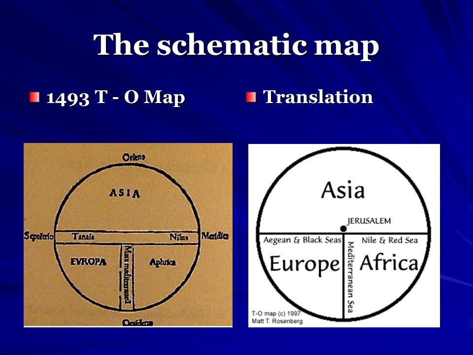 The schematic map 1493 T - O Map Translation