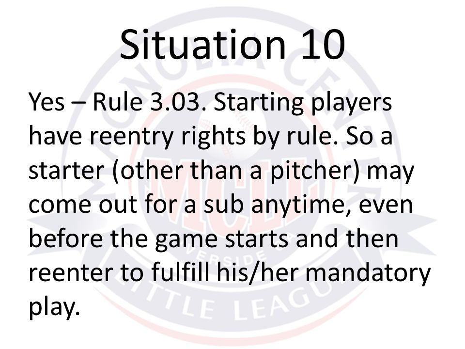 Yes – Rule 3.03. Starting players have reentry rights by rule.