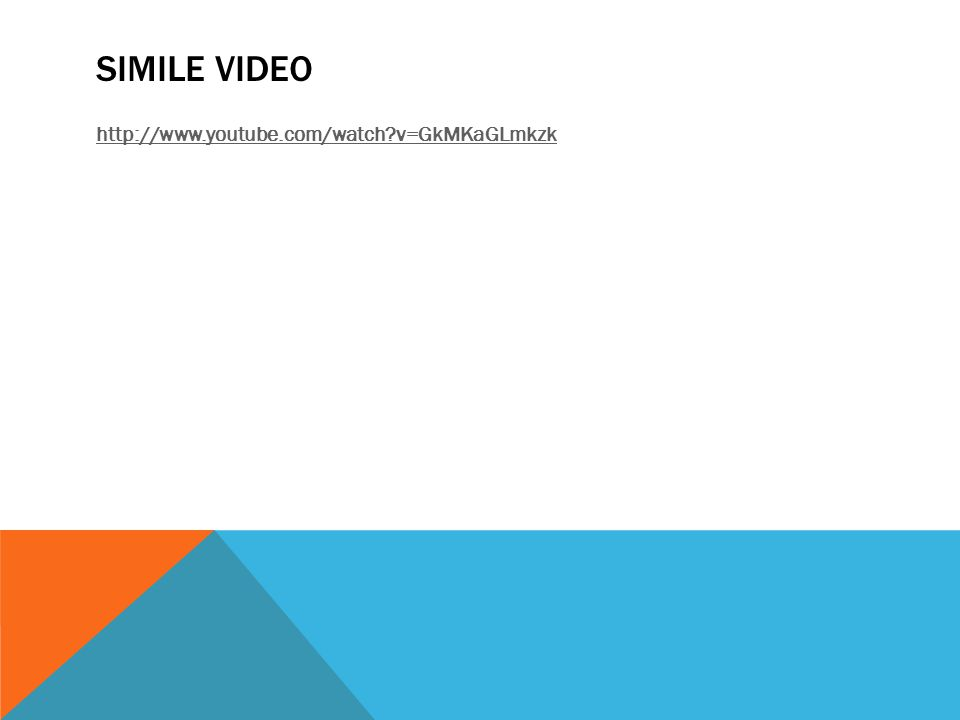 SIMILE VIDEO http://www.youtube.com/watch v=GkMKaGLmkzk