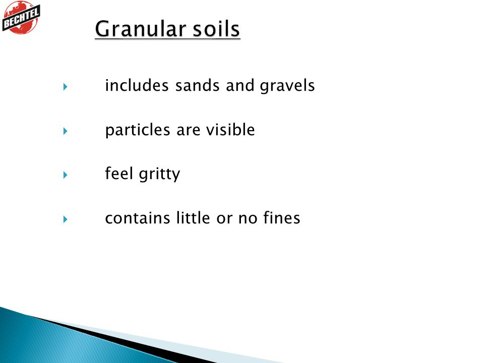  includes sands and gravels  particles are visible  feel gritty  contains little or no fines