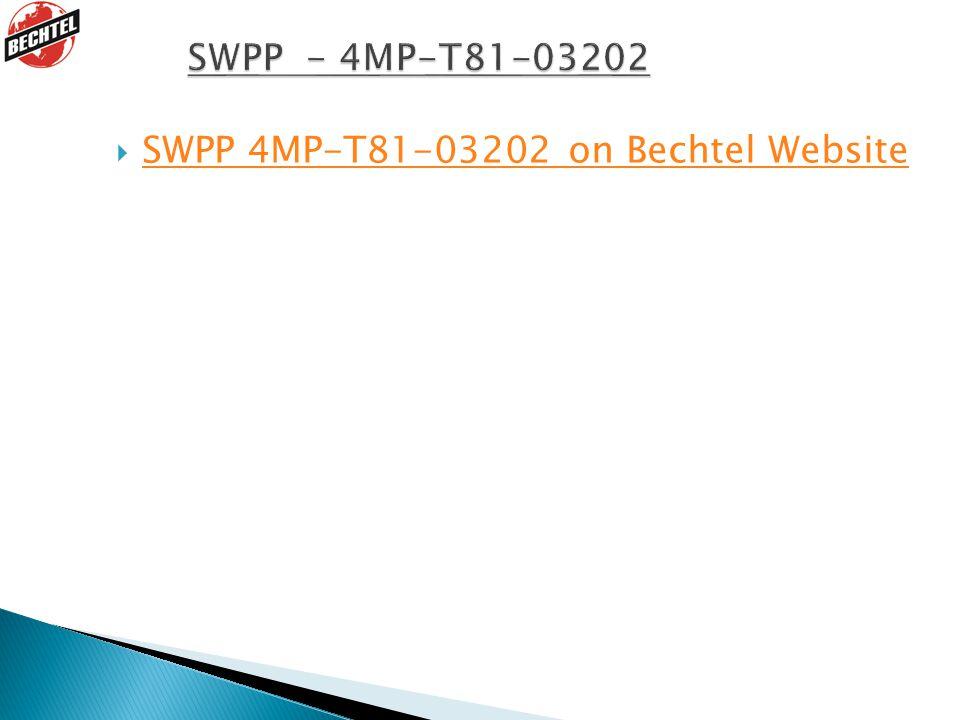  SWPP 4MP-T81-03202 on Bechtel Website SWPP 4MP-T81-03202 on Bechtel Website