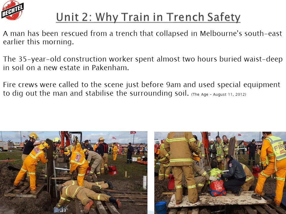 A man has been rescued from a trench that collapsed in Melbourne s south-east earlier this morning.