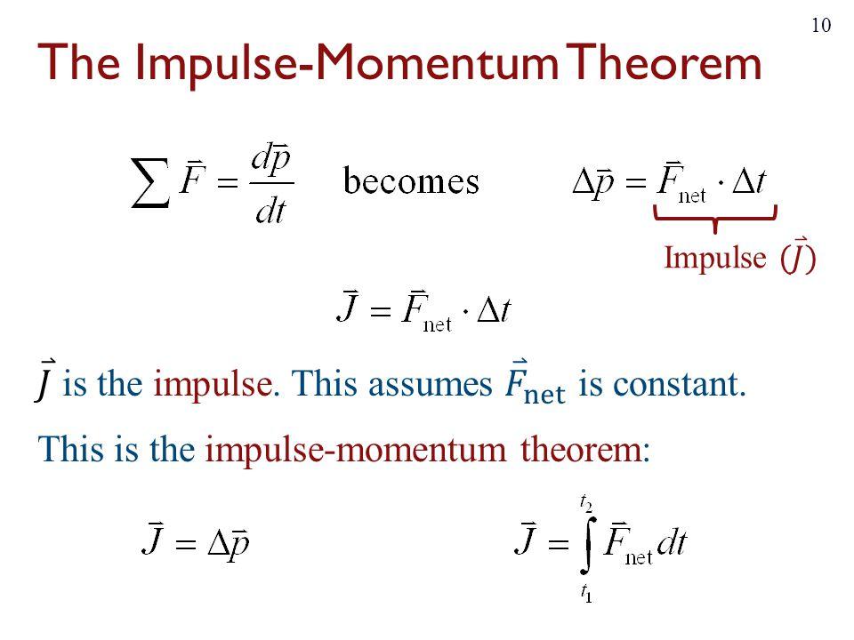 The Impulse-Momentum Theorem 10