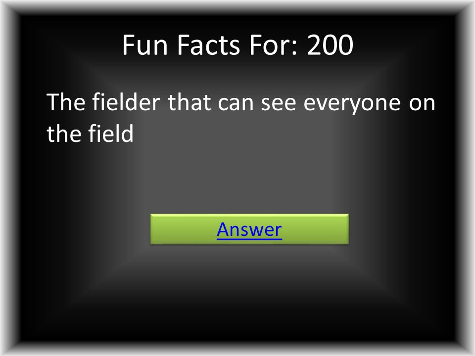 Fun Facts For: 200 The fielder that can see everyone on the field Answer