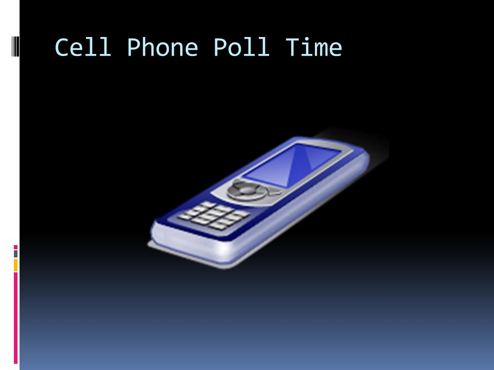 Cell Phone Poll Time