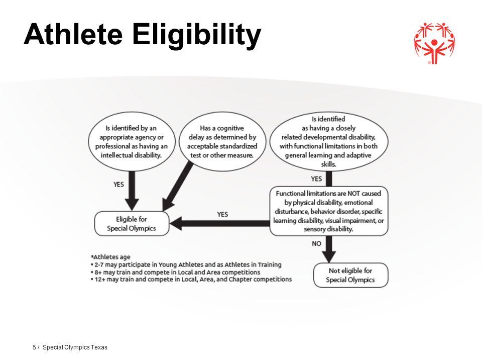 5 / Special Olympics Texas Athlete Eligibility