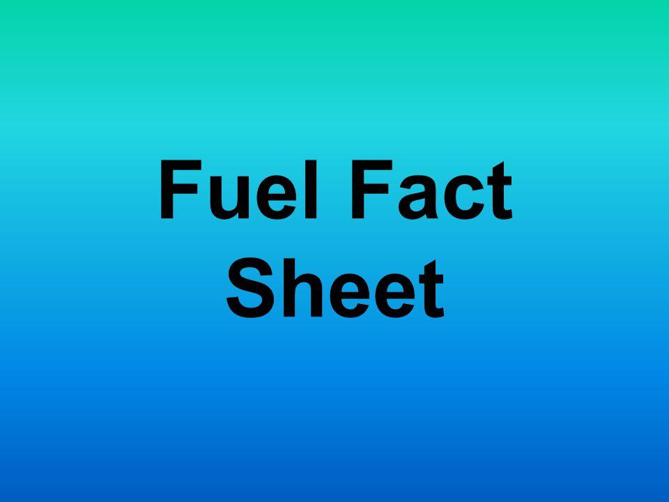 Fuel Fact Sheet