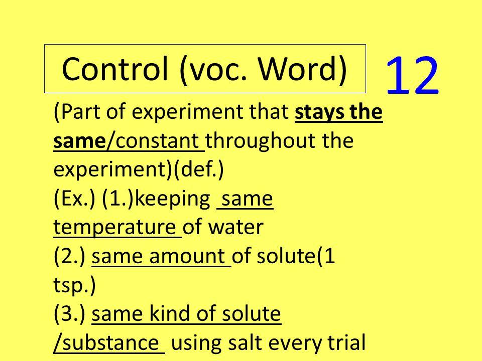 Control (voc.