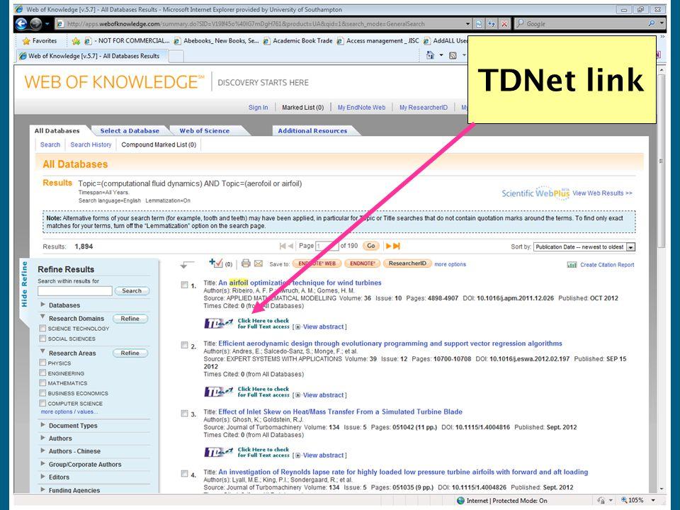 TDNet link