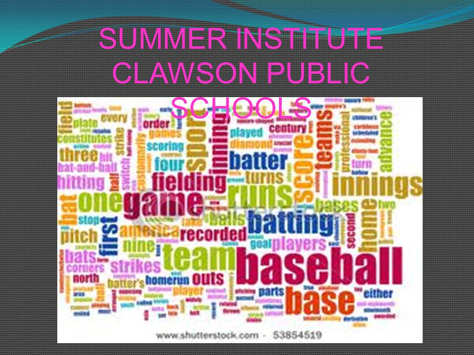 SUMMER INSTITUTE CLAWSON PUBLIC SCHOOLS